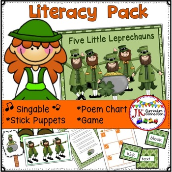 St. Patrick's Day Song! Five Little Leprechauns Song & Lit