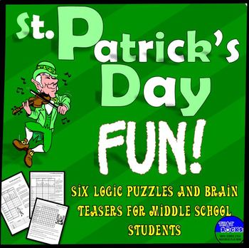 St. Patrick's Day Fun- Five Logic Puzzles for Middle School