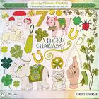 St Patrick's Day Irish Charms Clip Art - Lucky Rabbits Foo