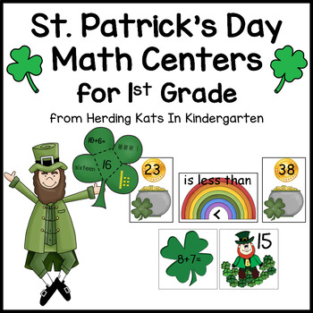 St. Patrick's Day Lucky Leprechaun Math Unit