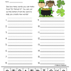 St. Patrick's Day Making Words Activity