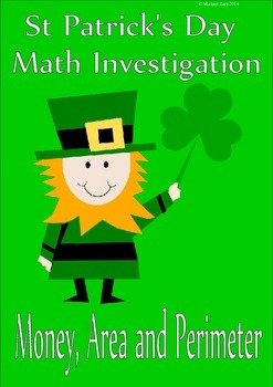 St Patrick's Day Math Area Perimeter and Money