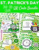 St. Patrick's Day Math Fun QR Code Task Card Bundle (2nd-3