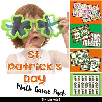 St Patricks Day Math Game Pack