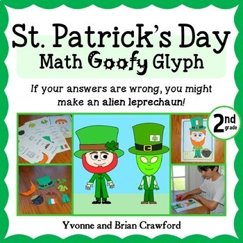 St. Patrick's Day Math Goofy Glyph (2nd grade Common Core)