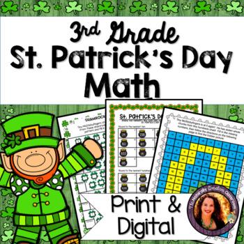 St. Patrick's Day Math: Hidden Picture, Secret Message, Word Problems & MORE!!!