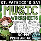 St. Patrick's Day Music Activities- Mega Pack- 35 Activiti