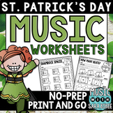 St. Patrick's Day Music Activities- Mega Pack- 35 Activiti