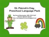 St. Patrick's Day Preschool Language Activities