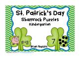 St. Patrick's Day Shamrock Kindergarten Puzzles