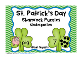 St. Patrick's Day Shamrock Puzzles Kindergarten