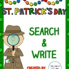 St. Patrick's Day Search & Write Sight Word Activity for K