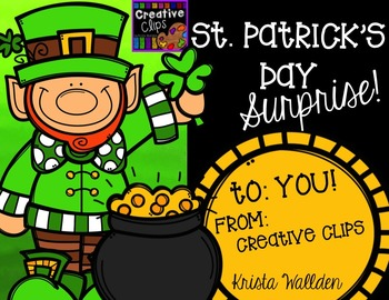 St. Patrick's Day Surprise {Creative Clips Digital Clipart}