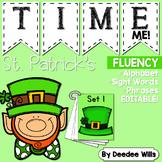 St. Patrick's Day Time Me!  Fluency Station Editable