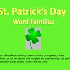 St. Patrick's Day Word Families CLOVERS