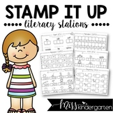 Stamp it Up! {printables for literacy stations}