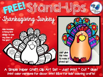 Stand UPS: FREE Thanksgiving Turkey Edition Clip Art Set
