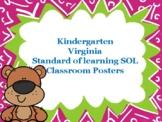 Standard of Learning (SOL) Classroom Posters kindergarten