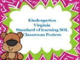 Standard of Learning (SOL) Classroom Posters kindergarten