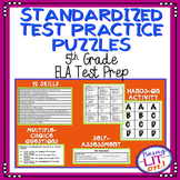 Standardized Test Practice Puzzles - 5th Grade ELA Test Pr