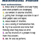 Standards for Mathematical Practices in kid friendly terms