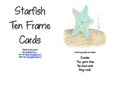 Star Fish Ten Frame Cards