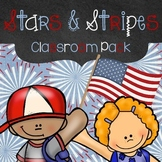 Stars and Stripes Patriotic Themed Editable Classroom Pack
