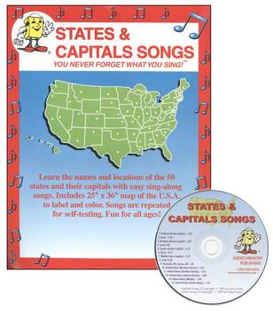 States and Capitals CD Kit - Audio Memory/Troxel (CD and map)