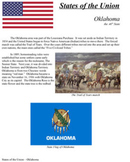 States of the Union - OK, NM, AZ, AK, HI