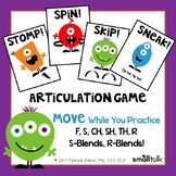 Stomp, Skip, Spin! An Action Game for Articulation of F, S