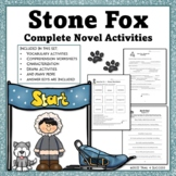Stone Fox Novel Unit Complete Set of  Activities