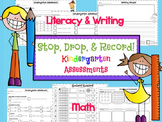 Stop, Drop, & Record! Kindergarten CCSS Assessments