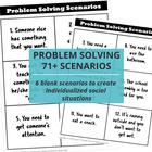 Speech Therapy Problem Solving Scenarios & Graphic Organiz