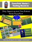 Story sequencing and time-order words PowerPoint lesson an