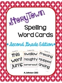 StoryTown 2nd Grade Spelling Word Cards