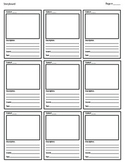 Storyboard Template for Animation / Video / Multimedia