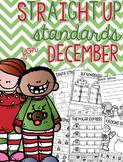 Straight Up! {Standards for December Printables}