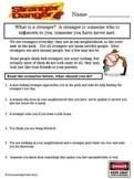 Stranger Danger Worksheet
