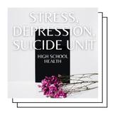 Health Unit: Stress  - 2.5 Weeks of Surveys, Worksheets, P
