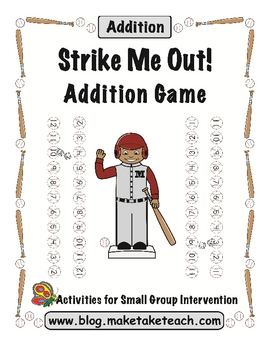 Strike Me Out! Baseball Addition Game
