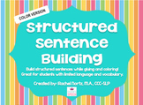 Structured Sentence Building {color version}