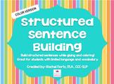 Structured Sentence Building {color version}