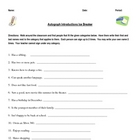 Student Autograph Icebreaker -- First-day/week activity