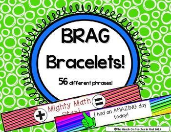 Classroom Management: Student Brag Bracelets - Great for Positive Reinforcement!