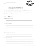 Student Goal Setting and Conference Form
