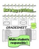 Student Grade sheet & How to keep a Grade sheet