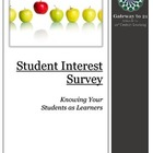 Student Interest Survey & Do You Know Your 21st Century Students