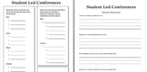 Student-Led Conference Form - Montessori Classroom Form