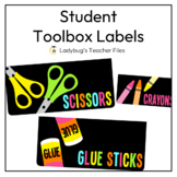 Student Toolbox Labels (Consistent Colors)
