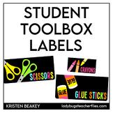 Student Toolbox Labels (Consistent Colors)